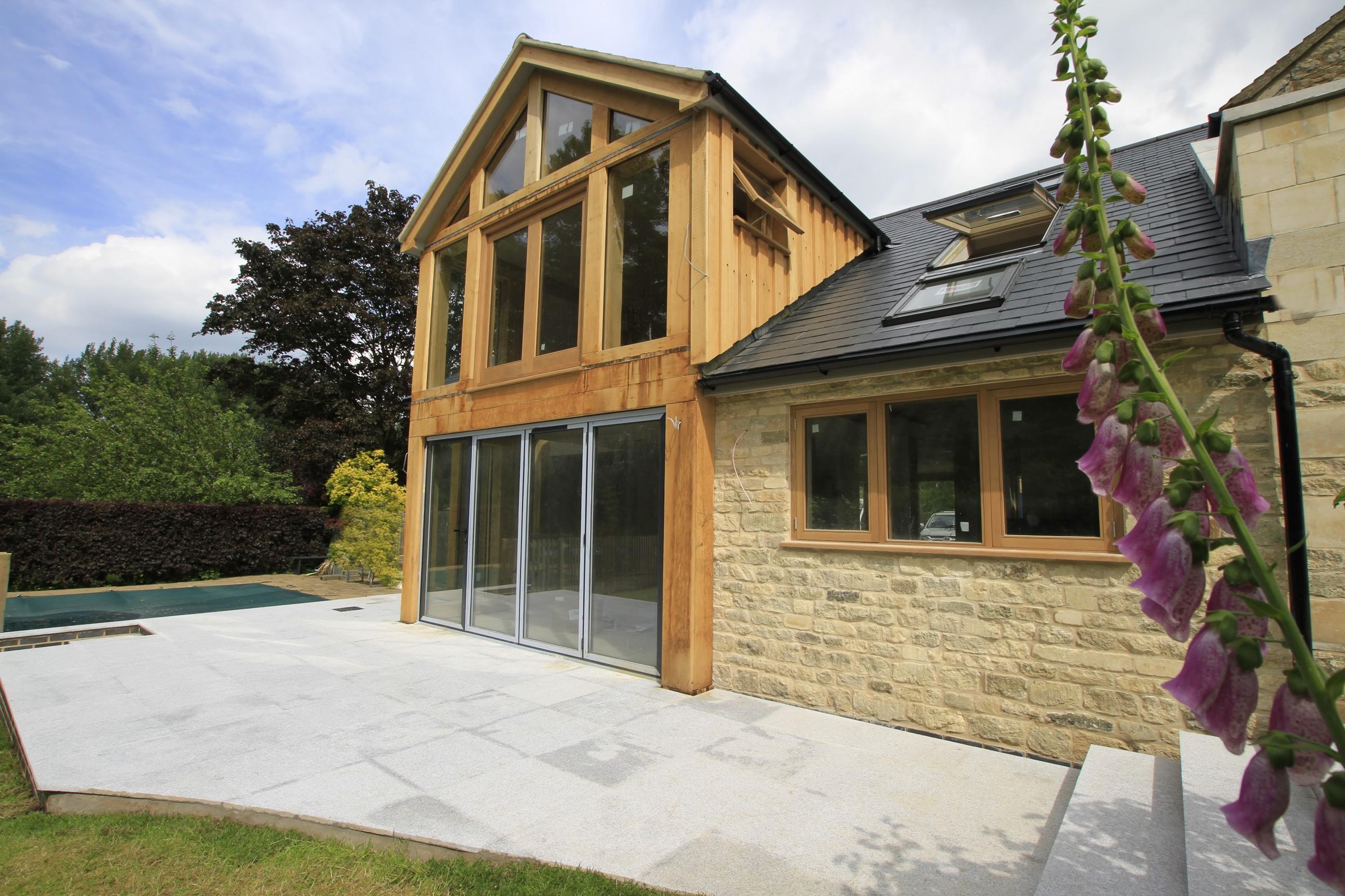 Oak Framed Extension Forms Large Glazed Living Space For