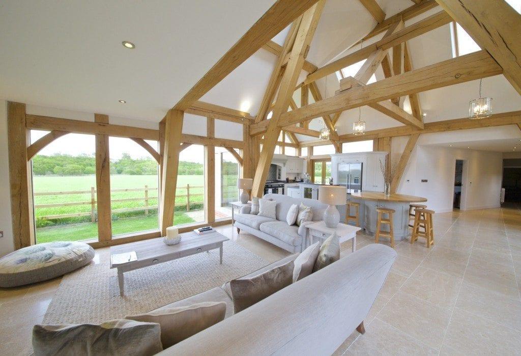 Oak framed kitchen dining and garden room extension to for Extension design ideas kitchen garden room