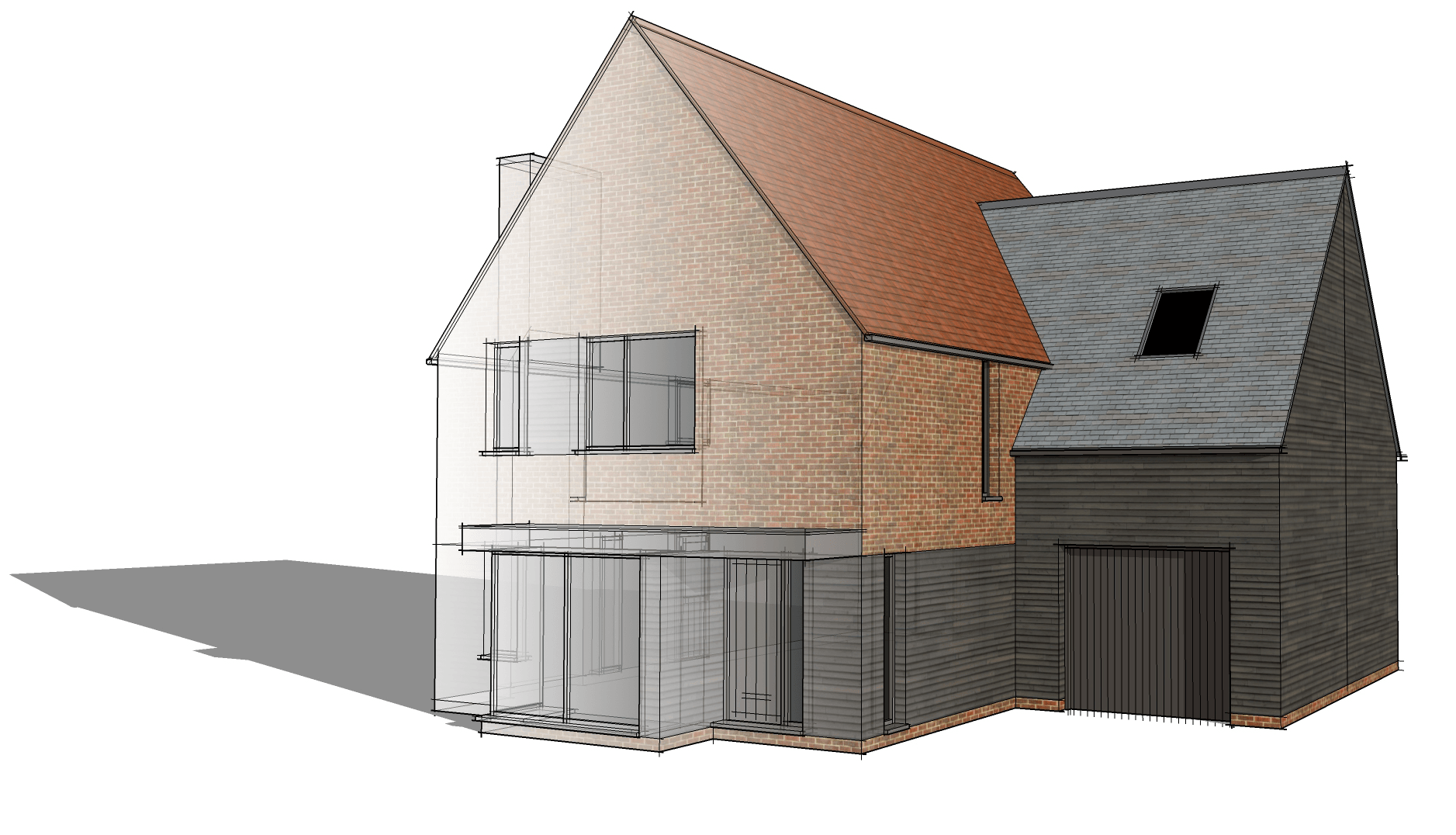 outline application submitted for 5 modern village houses