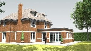Traditional glazed garden room proposals, London