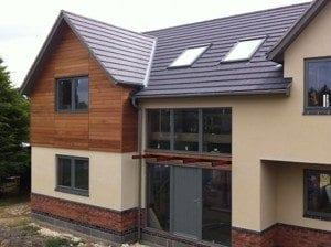 External shell completed on two timber frame dwellings