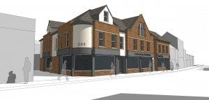 Application for mixed use development submitted, London