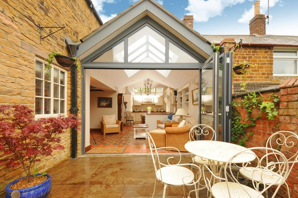 Traditional cottage renovated and extended.