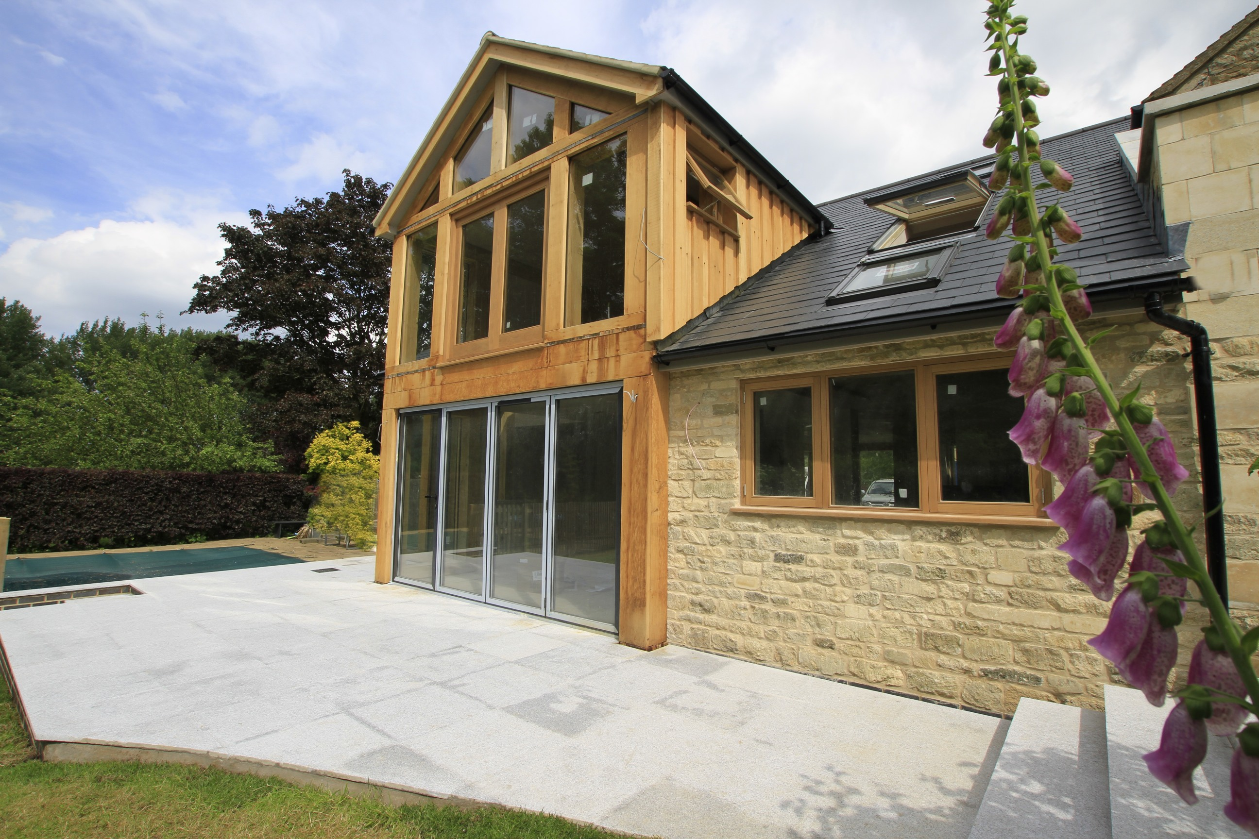 Oak Framed Extension Forms Large Glazed Living Space For