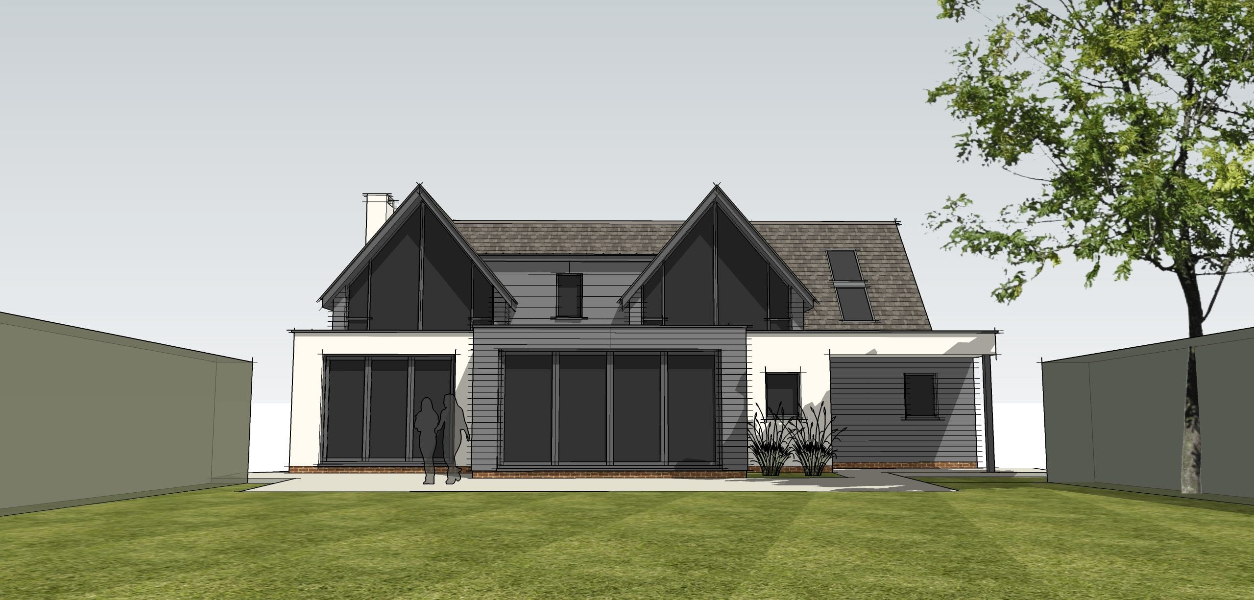 Planning consent for house remodelling in Northamptonshire…