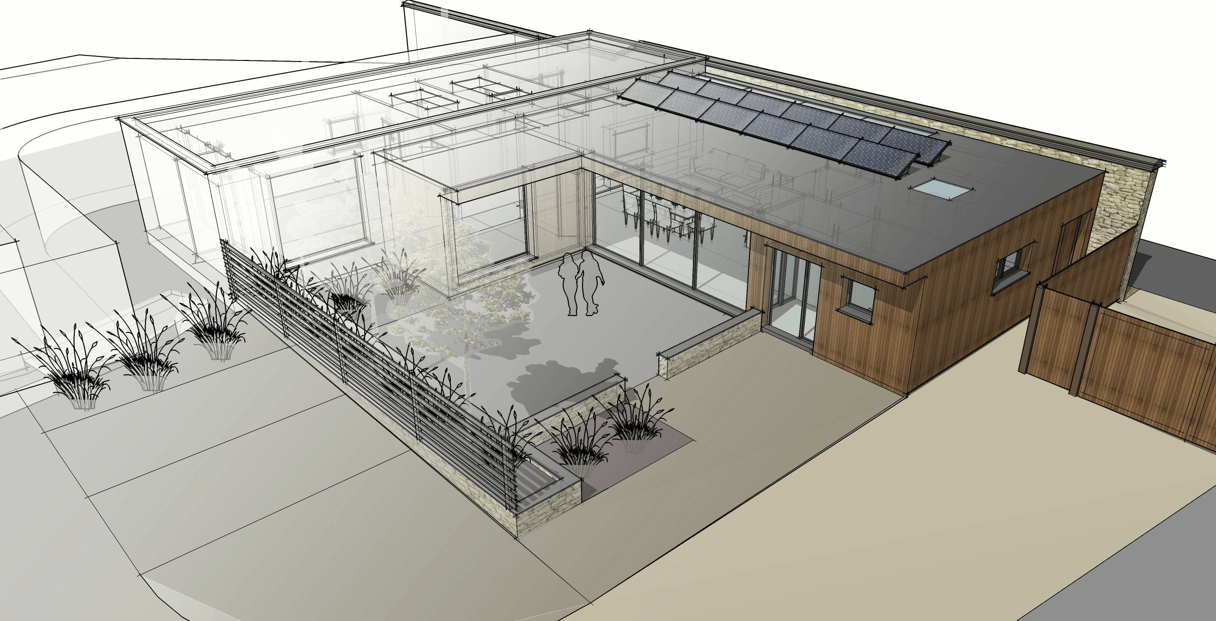Single storey eco-house submitted for planning…