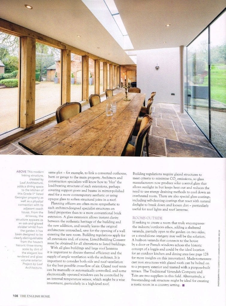 The English Homes-Article