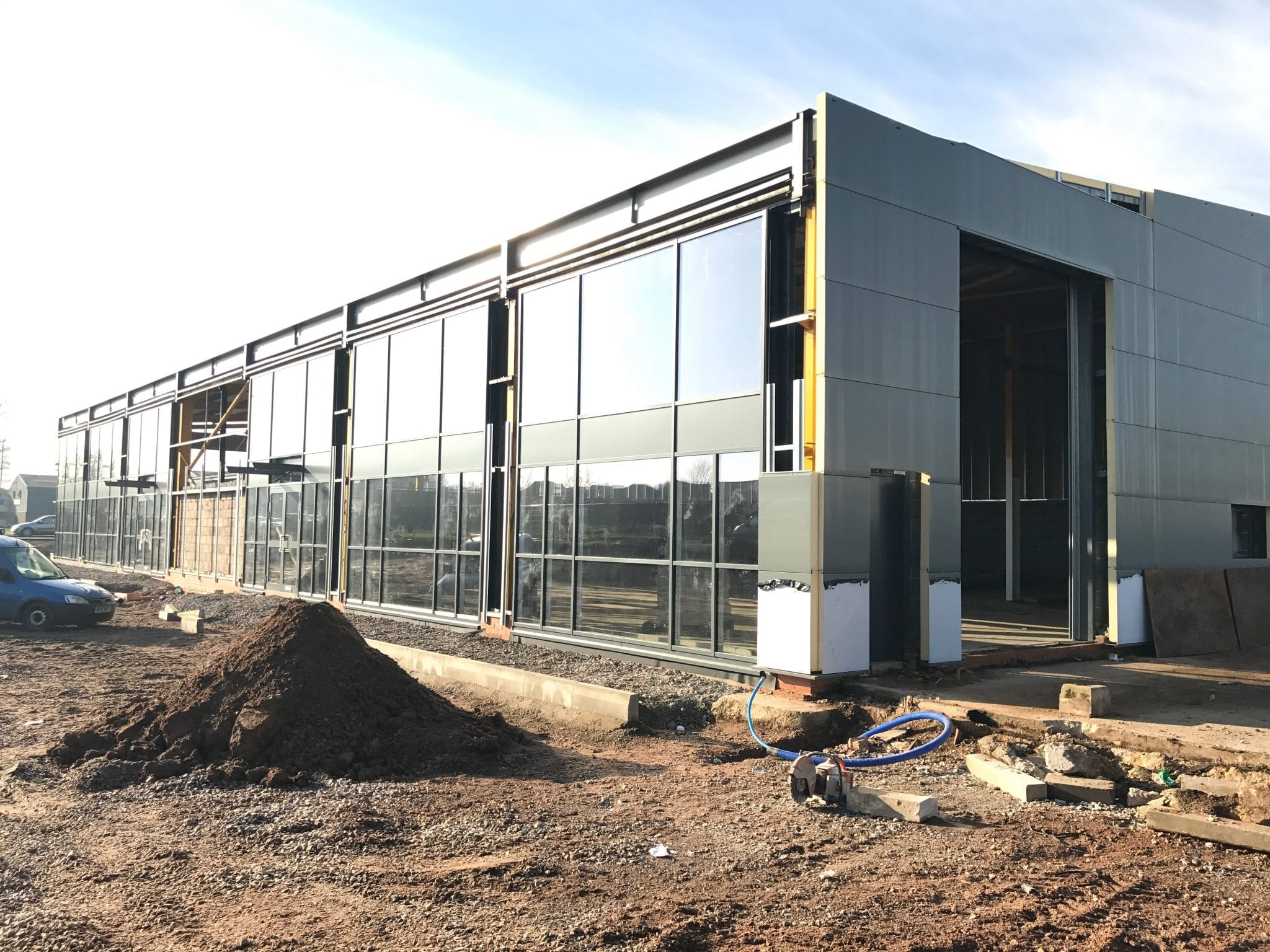 20,000 sq ft renovation of industrial building nears completion of the envelop…