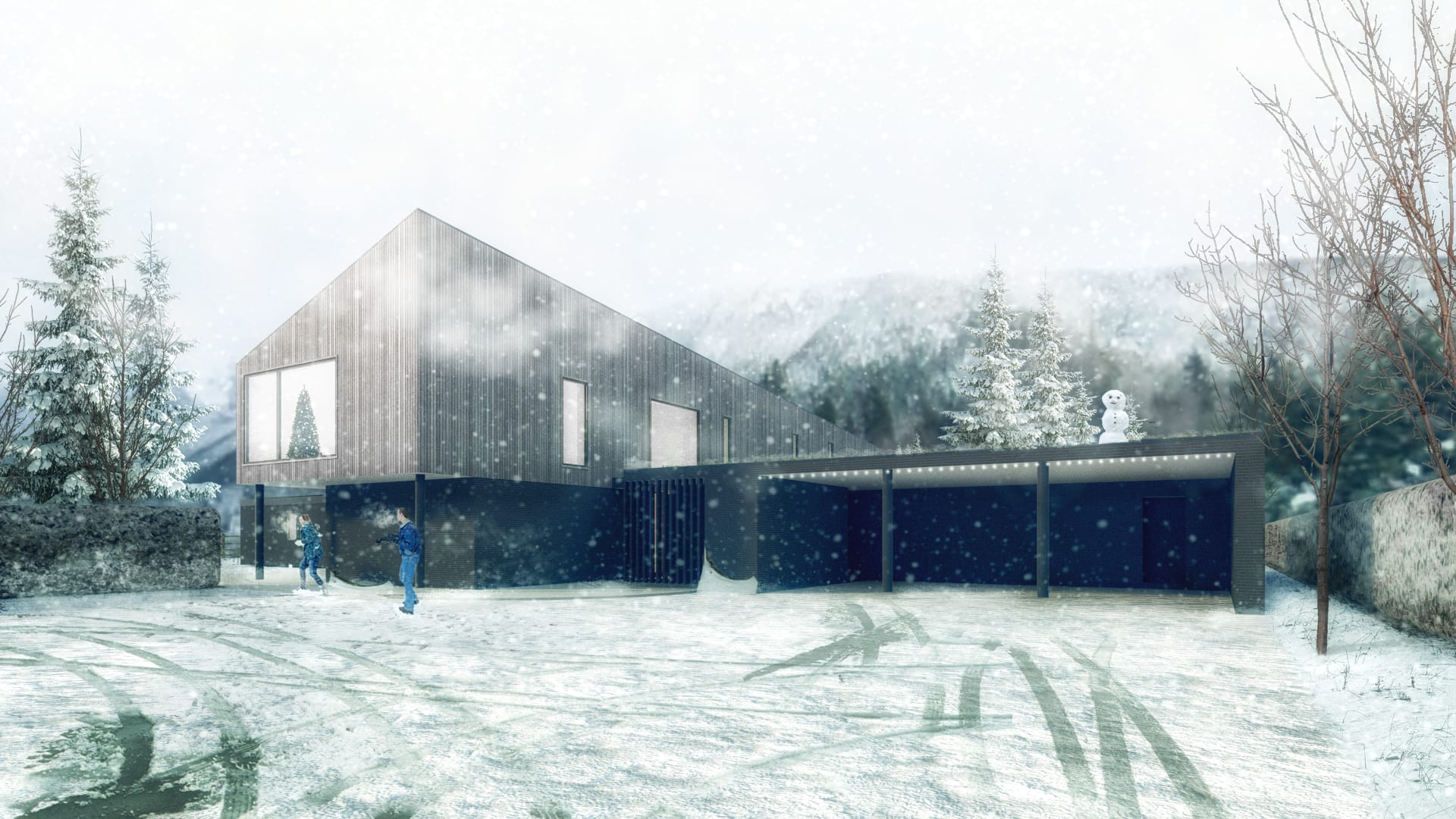4,000 sq ft contemporary house ready for planning submission…