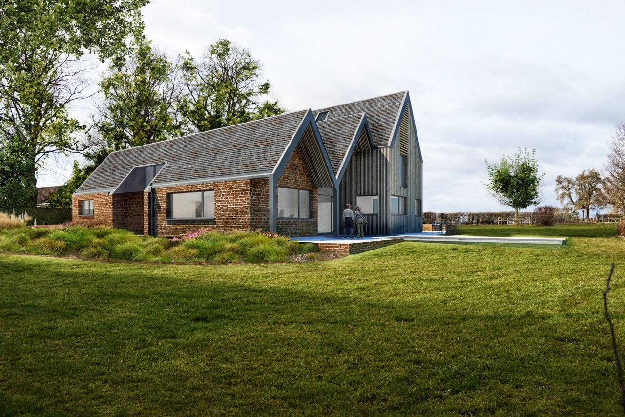 New build contemporary house inspired by conservation area architecture…