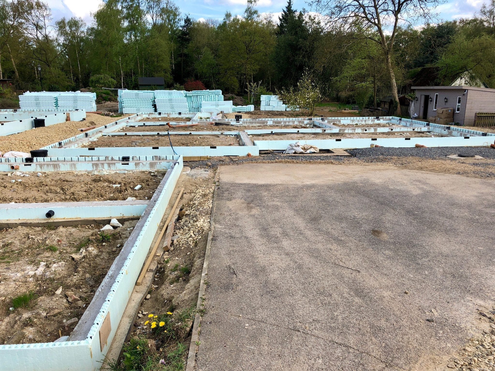 ICF self build begins on site…
