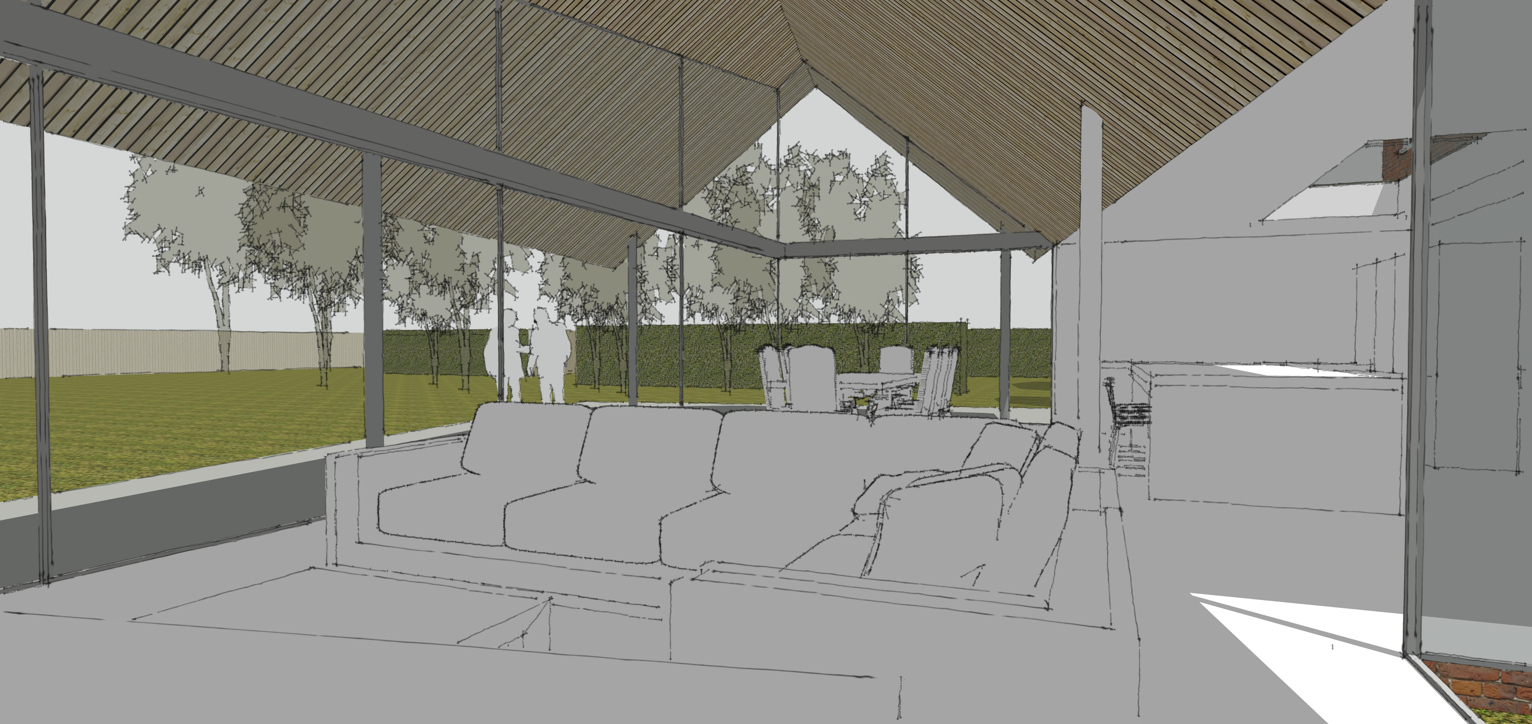 Planning Permission Granted for innovative glazed extension…