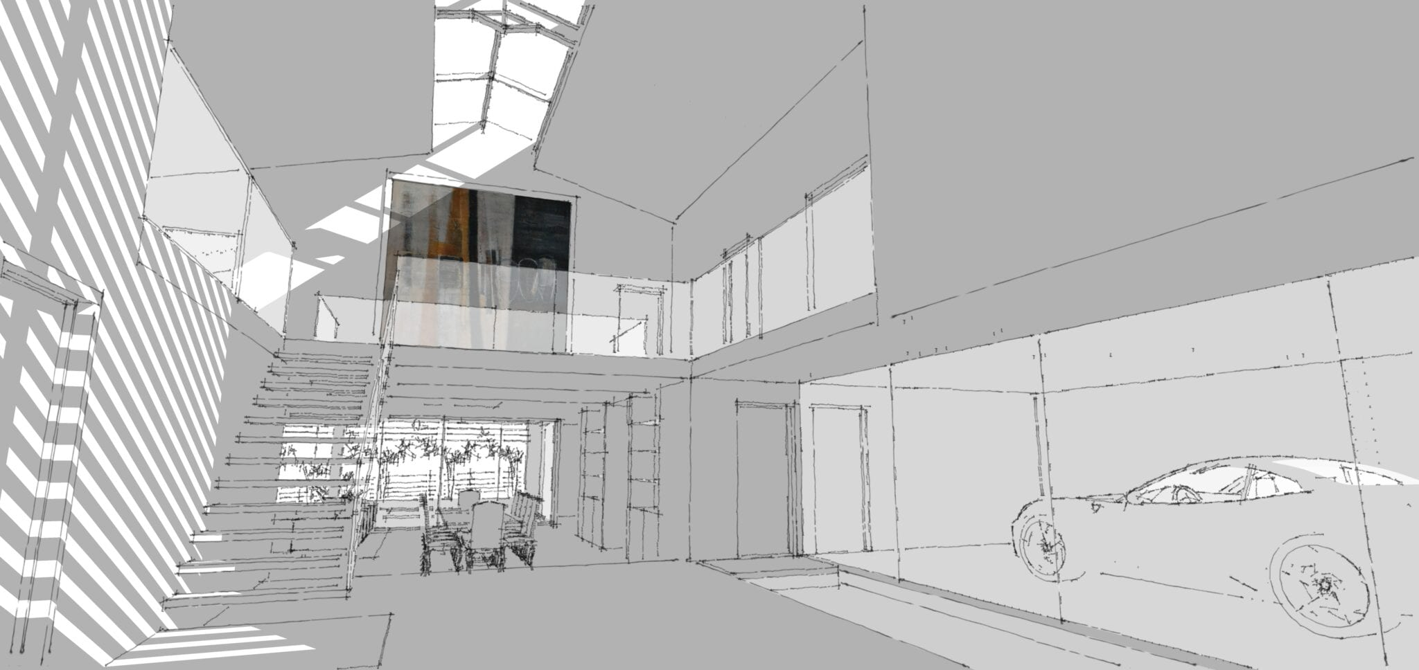 Internal Animation of Contemporary Industrial Barn Conversion…