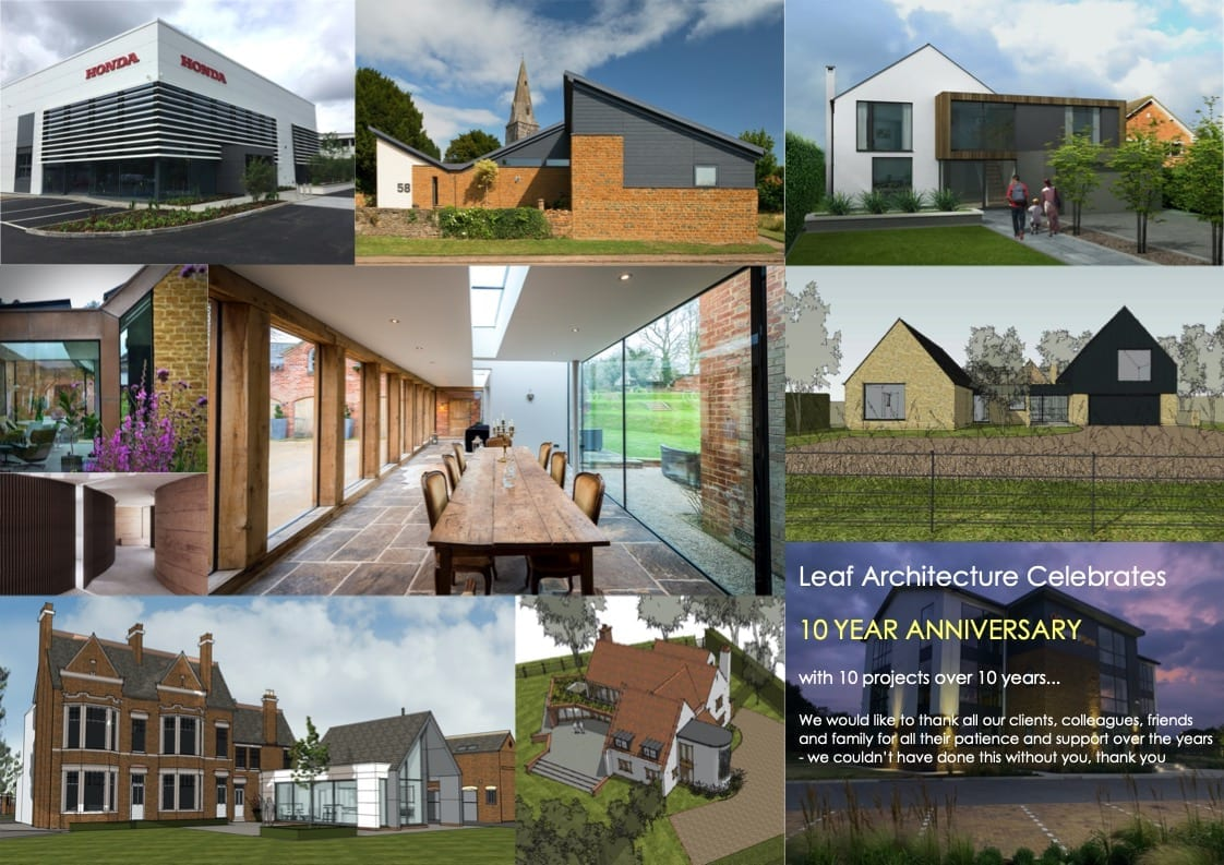 Leaf Architecture Celebrates 10 Year Anniversary with 10 projects over 10 years…