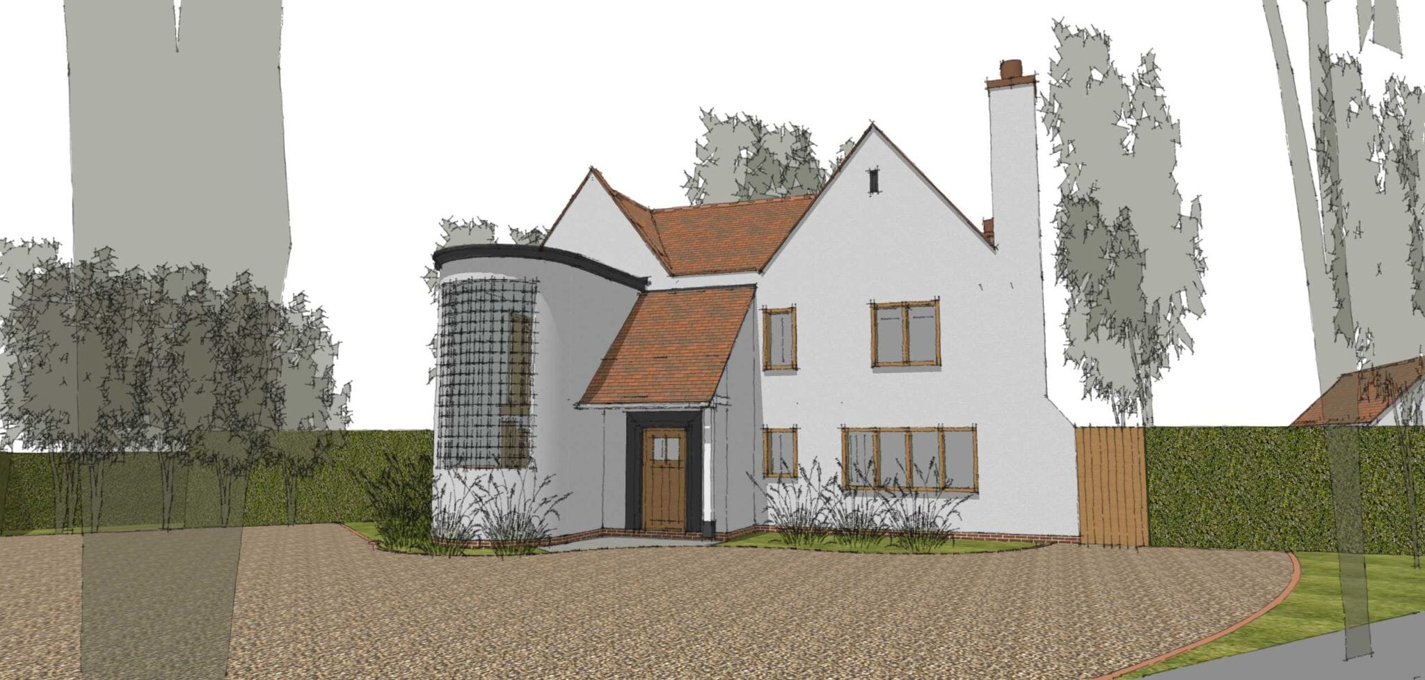 Planning Approval for New Build Arts & Crafts Inspired House in Stamford…