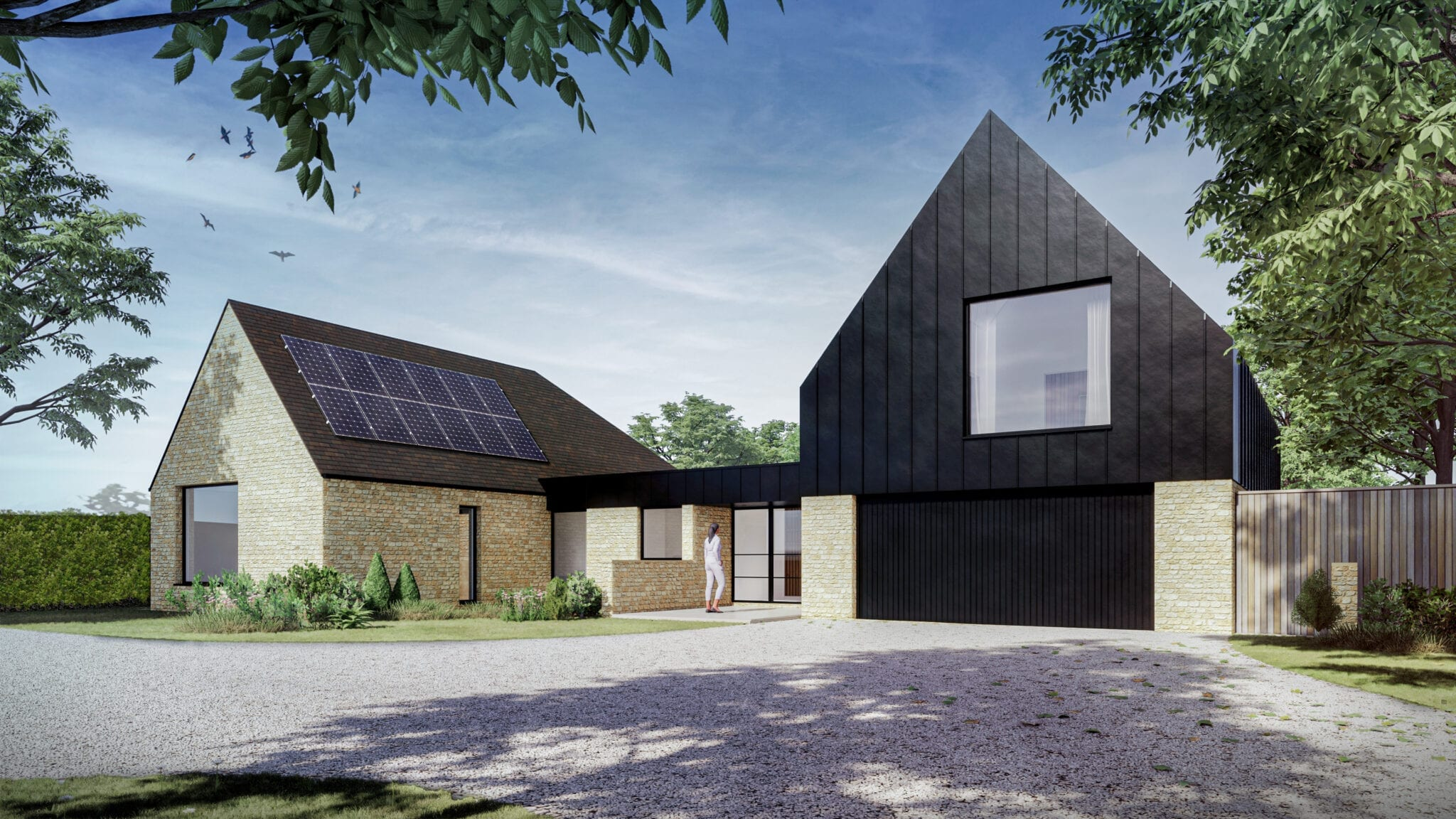 Contemporary Stone & Black Zinc Dwelling Starts on Site…