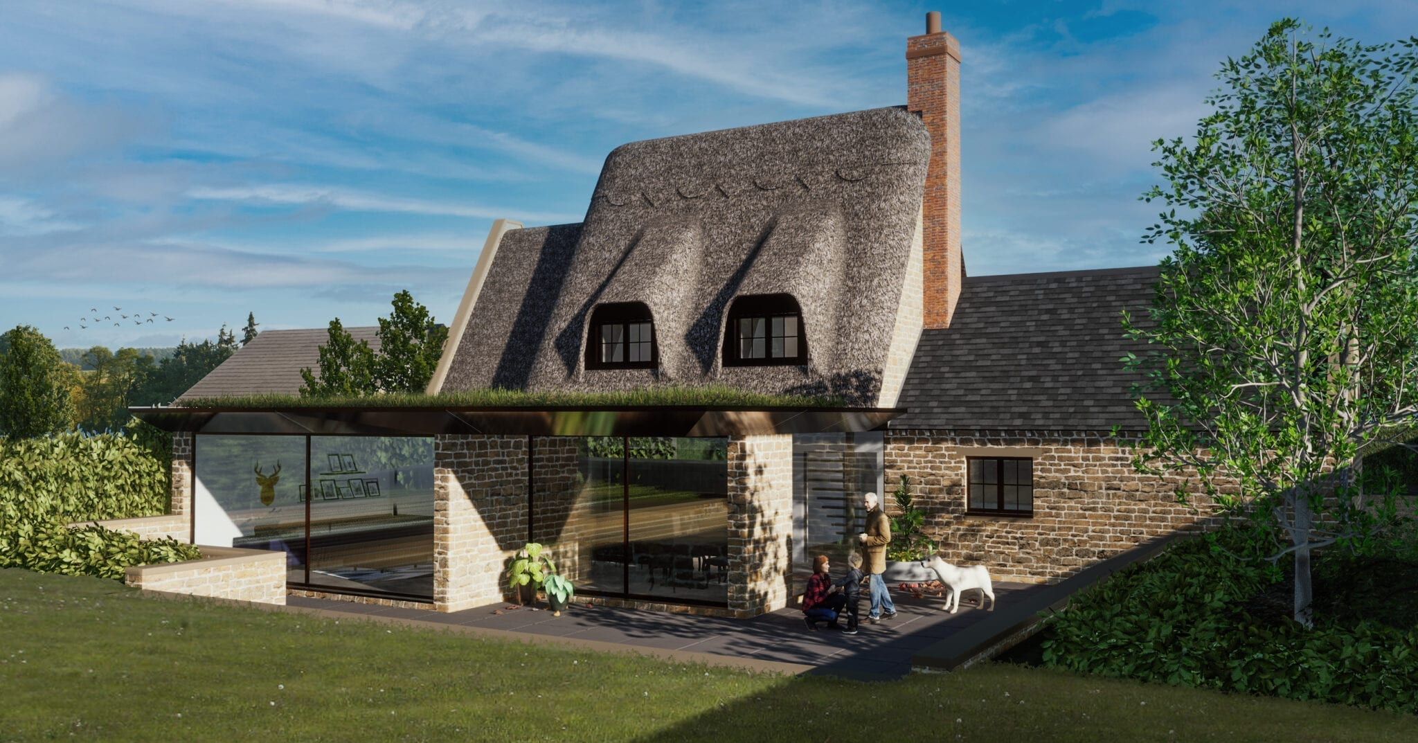 Planning Submitted for Traditional New Build Thatch Dwelling with a twist…